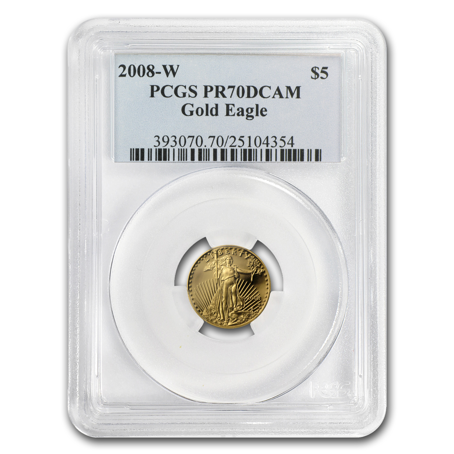 2008-W 1/10 oz Proof Gold American Eagle PR-70 PCGS