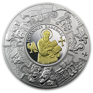 2011 Liberia 5 oz Silver John The Apostle Proof