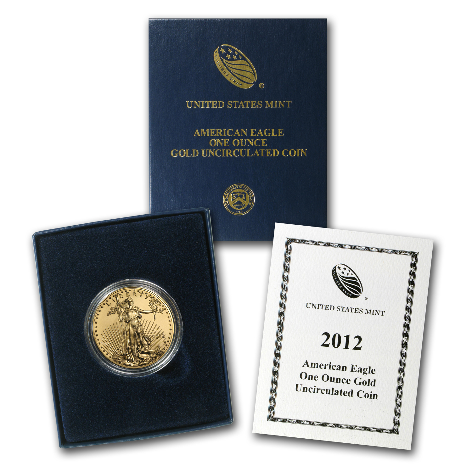 2012-W 1 oz Burnished Gold Eagle (w/Box & COA)