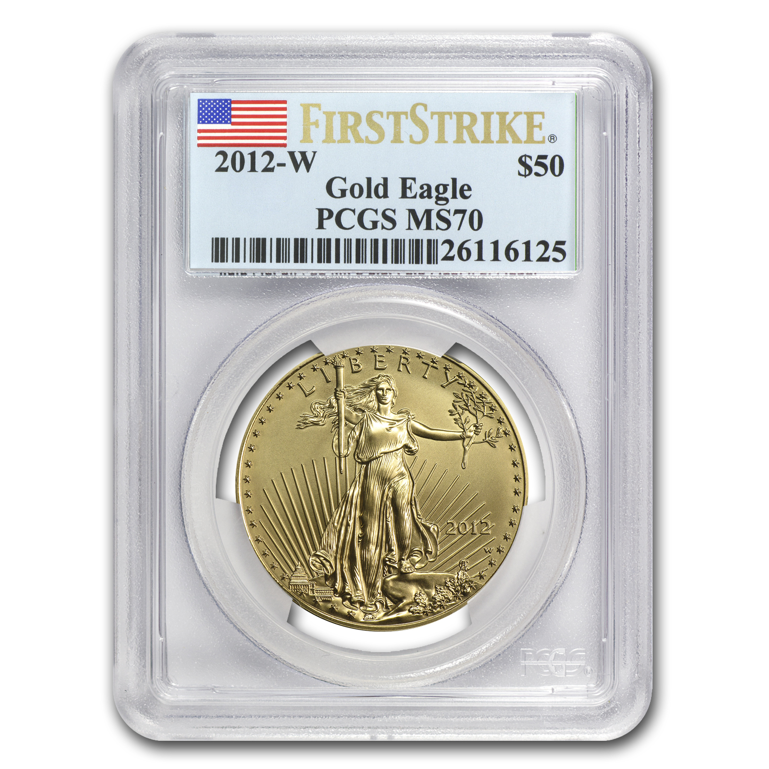 2012-W 1 oz Burnished Gold Eagle MS-70 PCGS (First Strike)