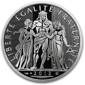 2012 France Silver €10 Hercules Proof