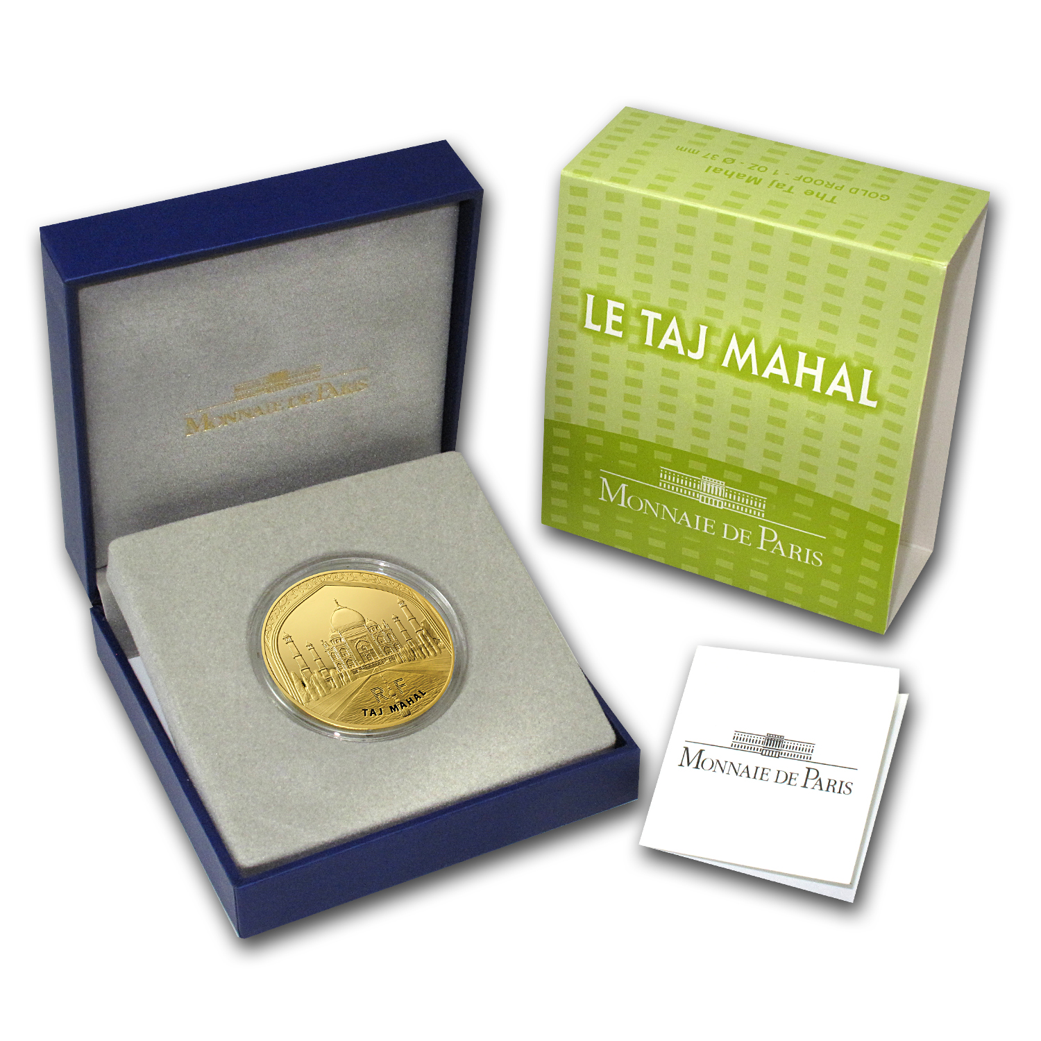 2010 1 oz Gold Proof UNESCO (200 Euro) - Taj Mahal