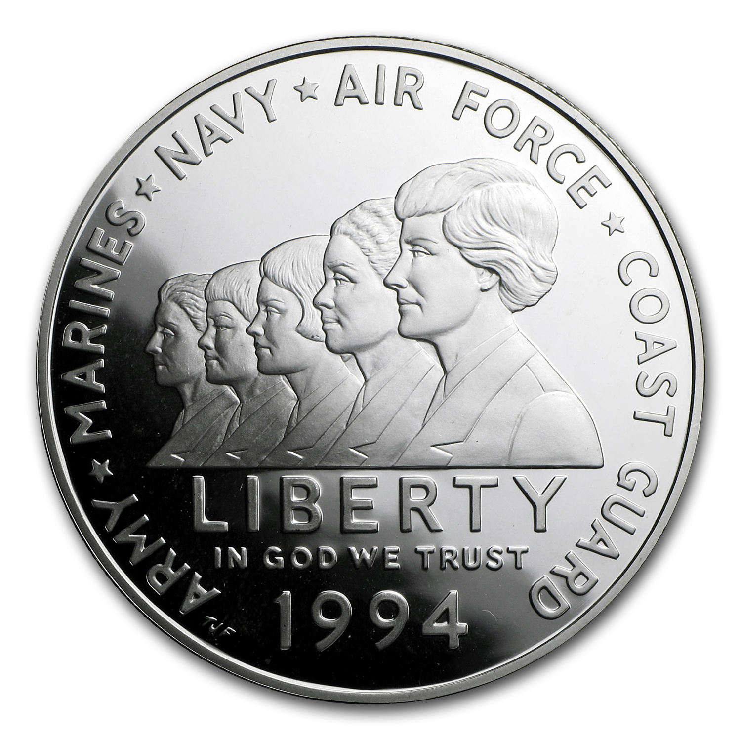 1994-P Women in Military $1 Silver Commem Proof (w/Box & COA)