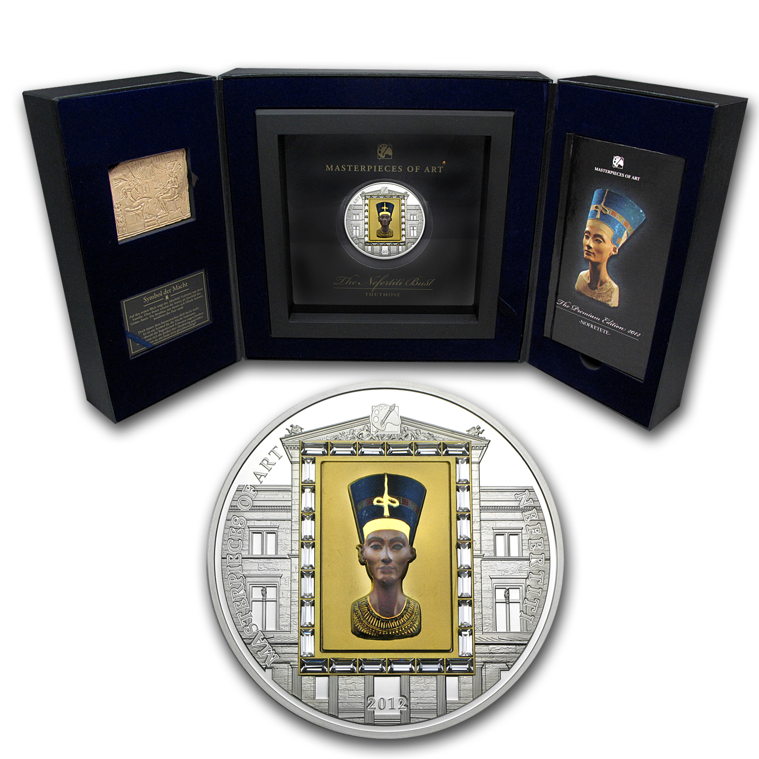 2012 Cook Islands Gold & Silver $20 Nefertiti Premium Edition