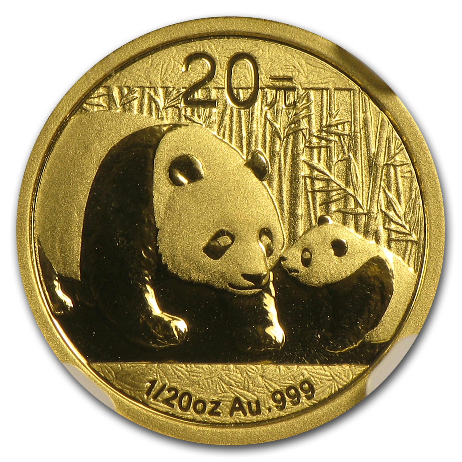 2011 China 1/20 oz Gold Panda MS-70 NGC