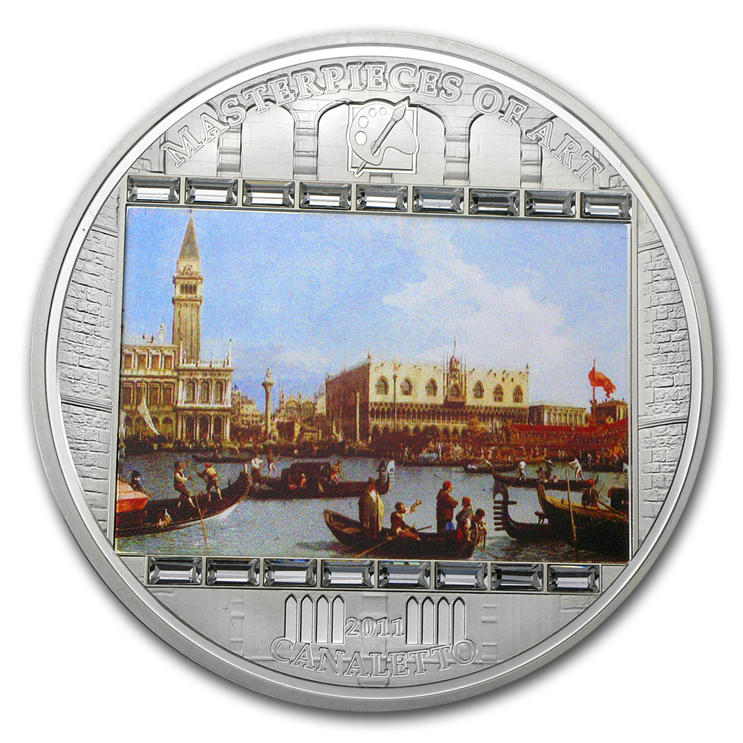 Cook Islands 2011 Silver $20 Masterpieces of Art - Canaletto
