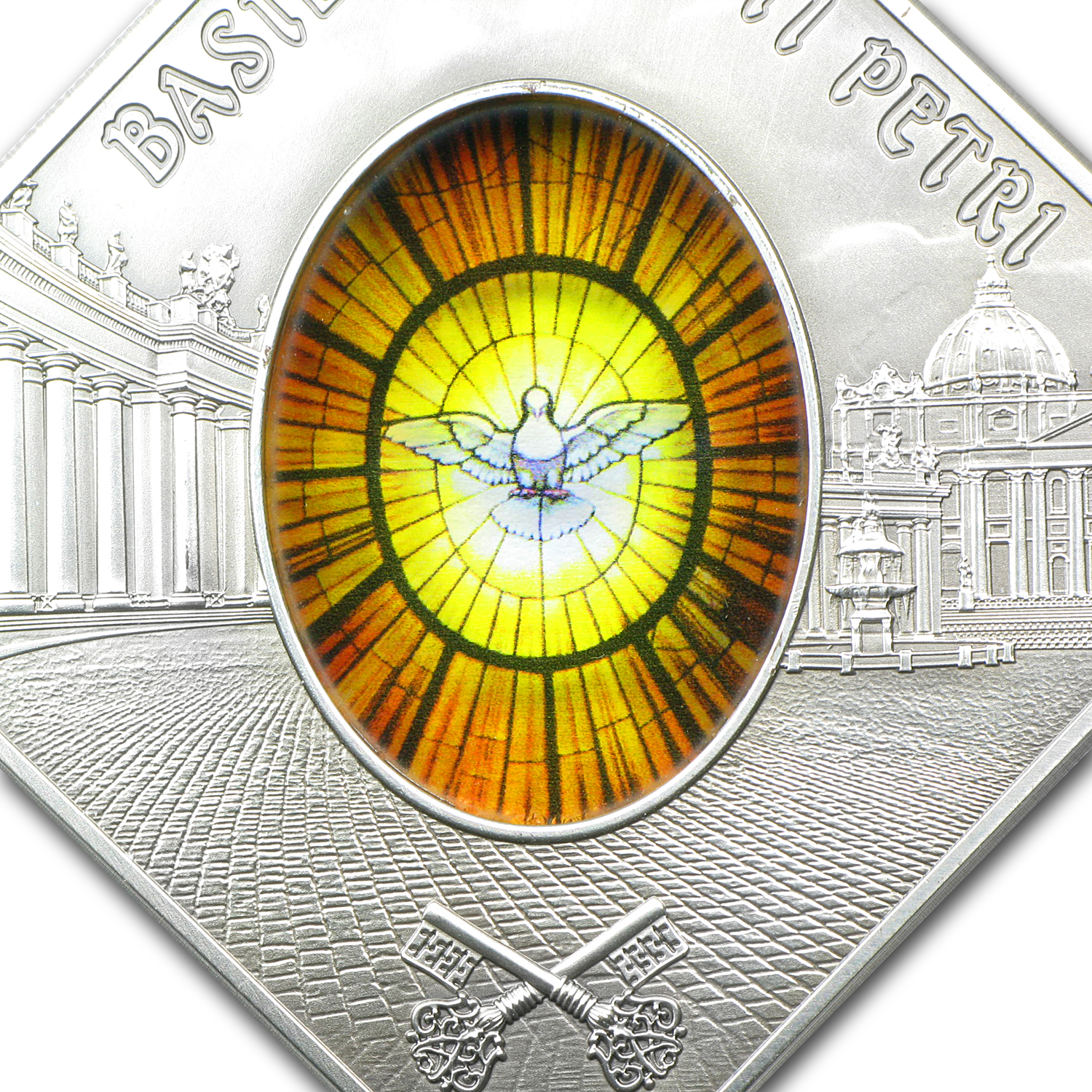 2011 Palau Proof Silver $10 Holy Windows St Peters Basilica
