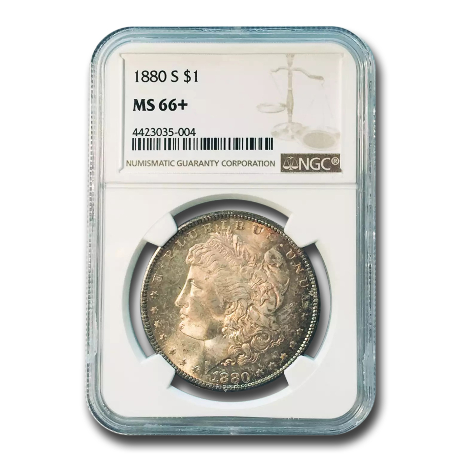 1880-S Morgan Dollar MS-66+ Plus NGC