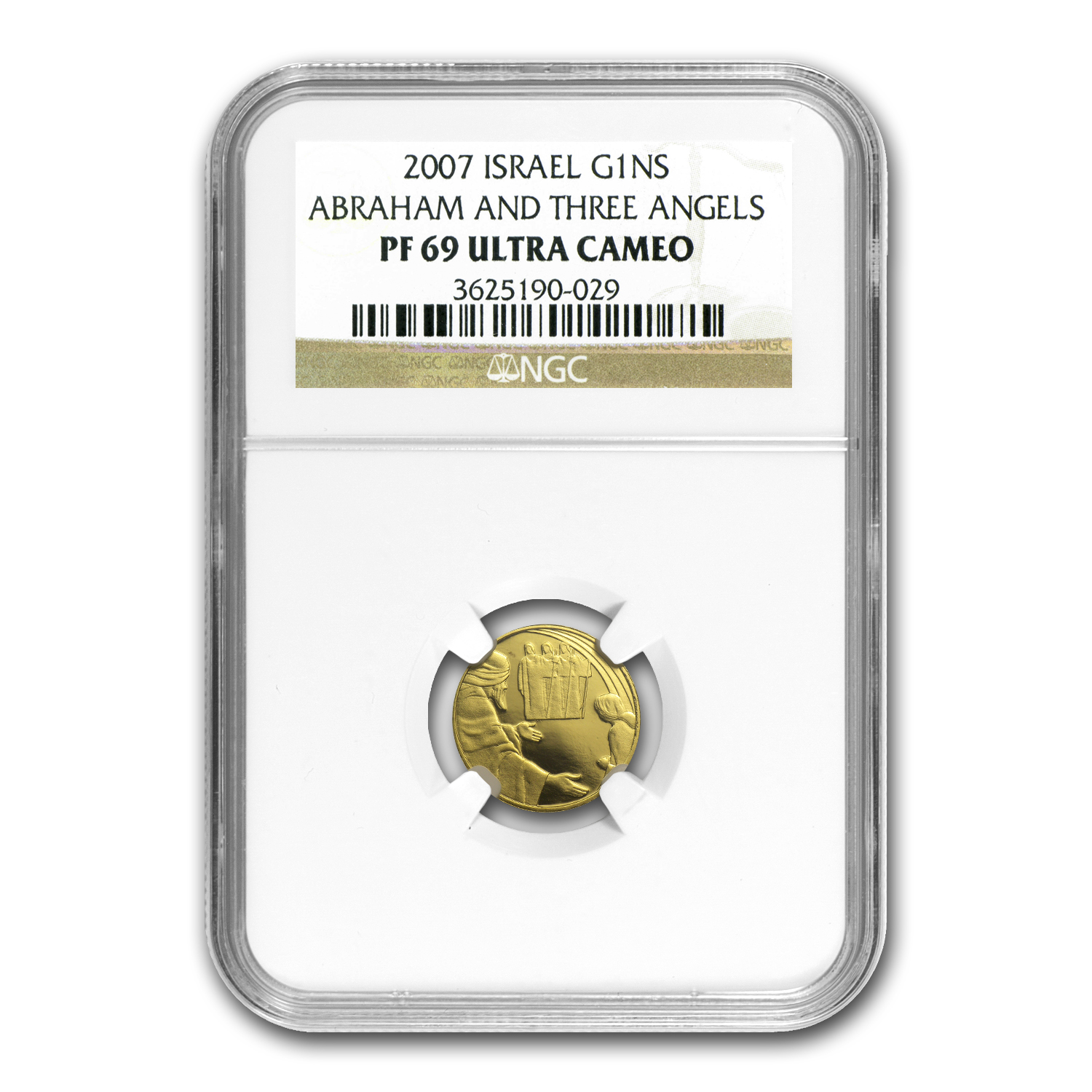 2007 Israel 1/25 oz Proof Gold Abraham & the Angels PF-69 NGC