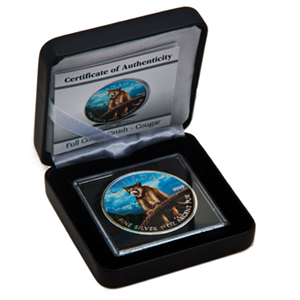 2012 Canada 1 oz Silver Wildlife Series Cougar (Full Colour)
