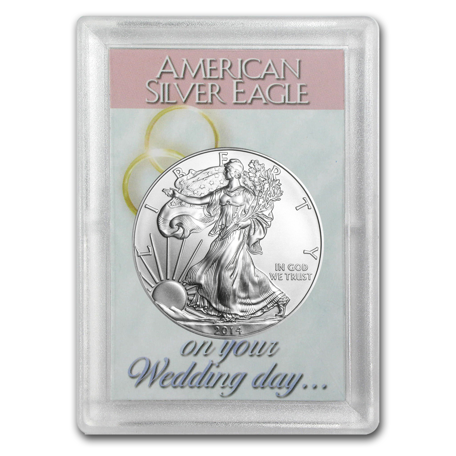 2014 1 oz Silver Eagle in Wedding Day Design Harris Holder