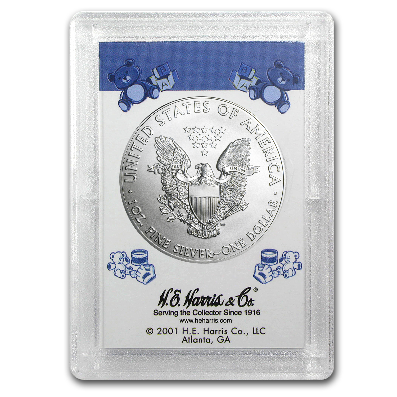 2014 1 oz Silver American Eagle BU (It's a Boy! Harris Holder)
