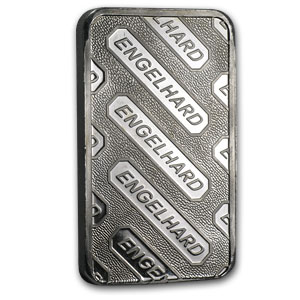 10 oz Platinum Bar - Engelhard (.9995 Fine, 'E' logo, No Assay)