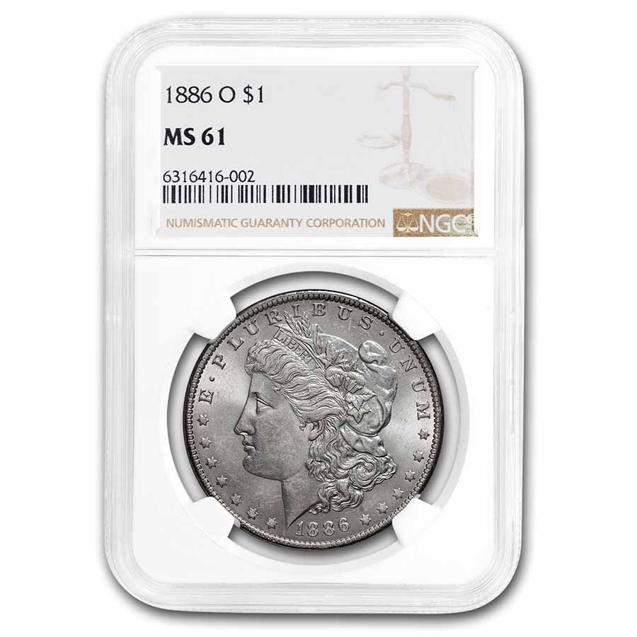 1886-O Morgan Dollar MS-61 NGC