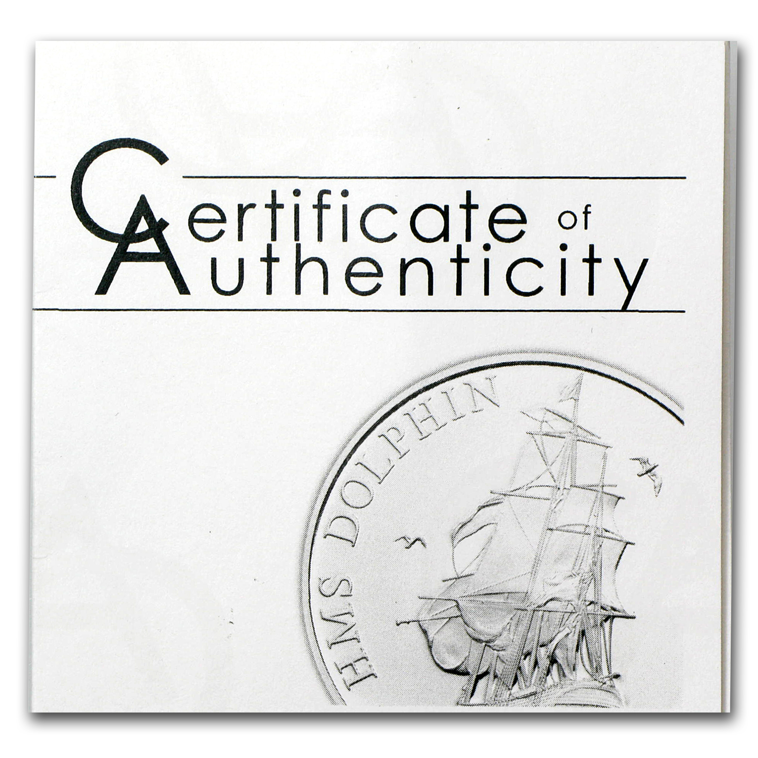 Tokelau 2012 Proof Silver $5 Ship - HMS Dolphin