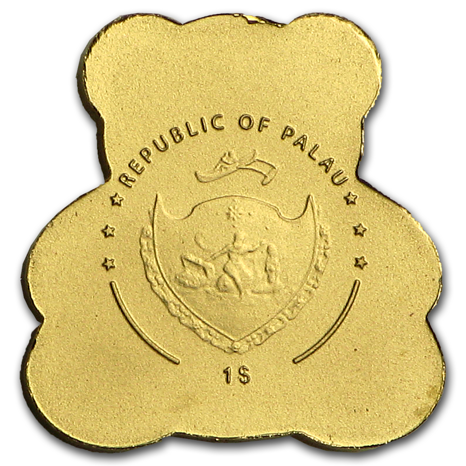 Palau 1/2 gram Gold $1 Teddy Bear
