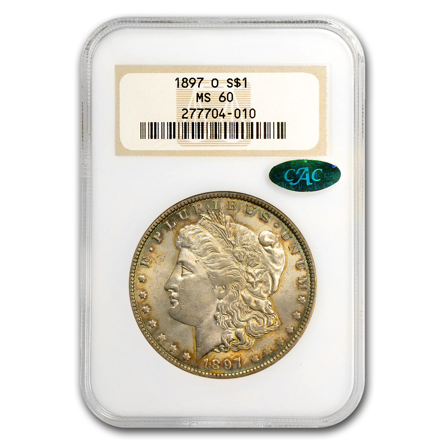 1897-O Morgan Dollar MS-60 NGC (CAC)