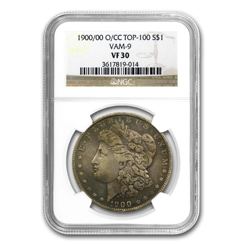 1900 O Cc Morgan Dollar Vf 30 Ngc Vam 9 O Over Cc Top