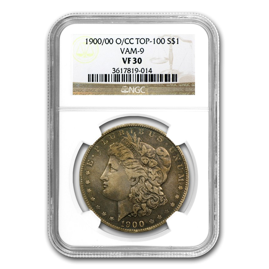 1900 O Cc Morgan Dollar Vf 30 Ngc Vam 9 O Over Cc Top