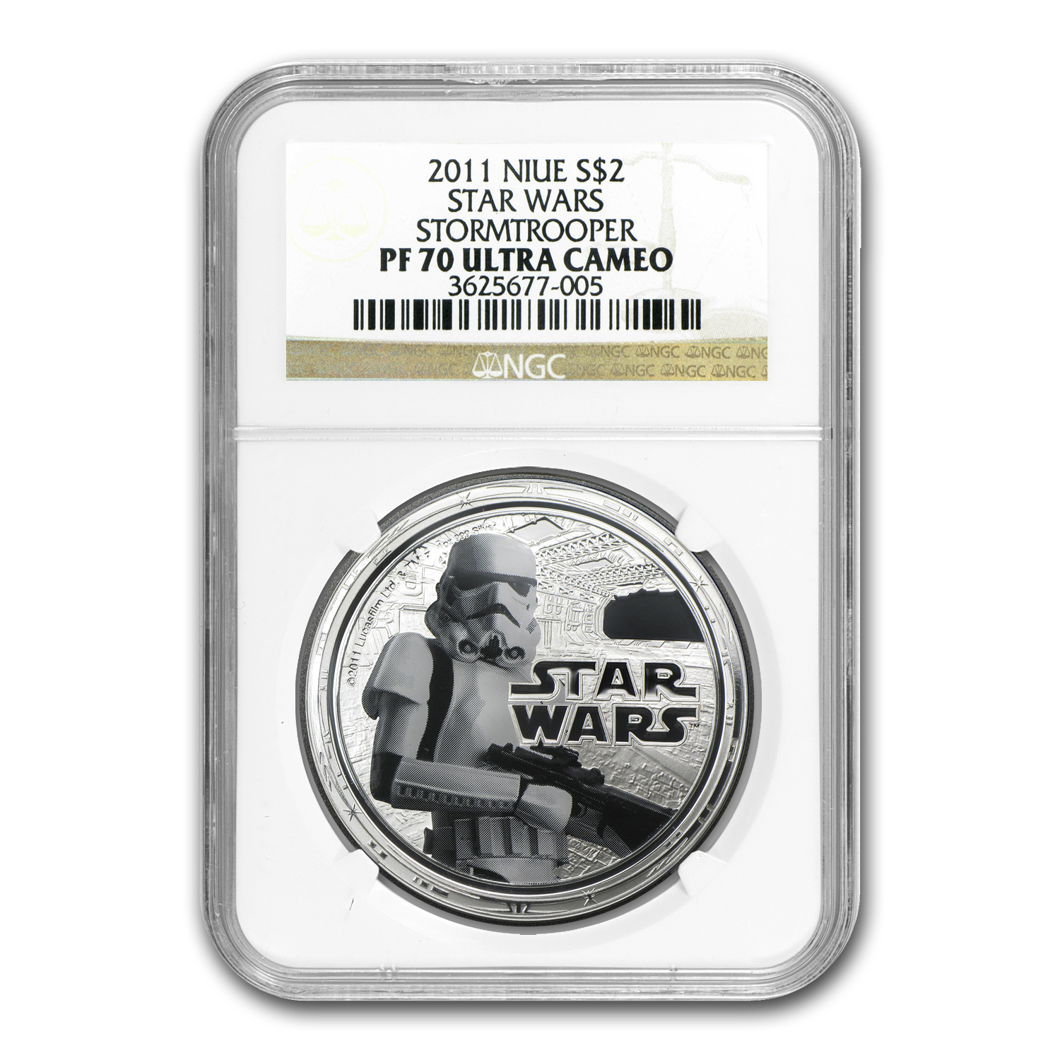 2011 1 oz Silver $2 Niue Star Wars Stormtrooper PF-70 NGC