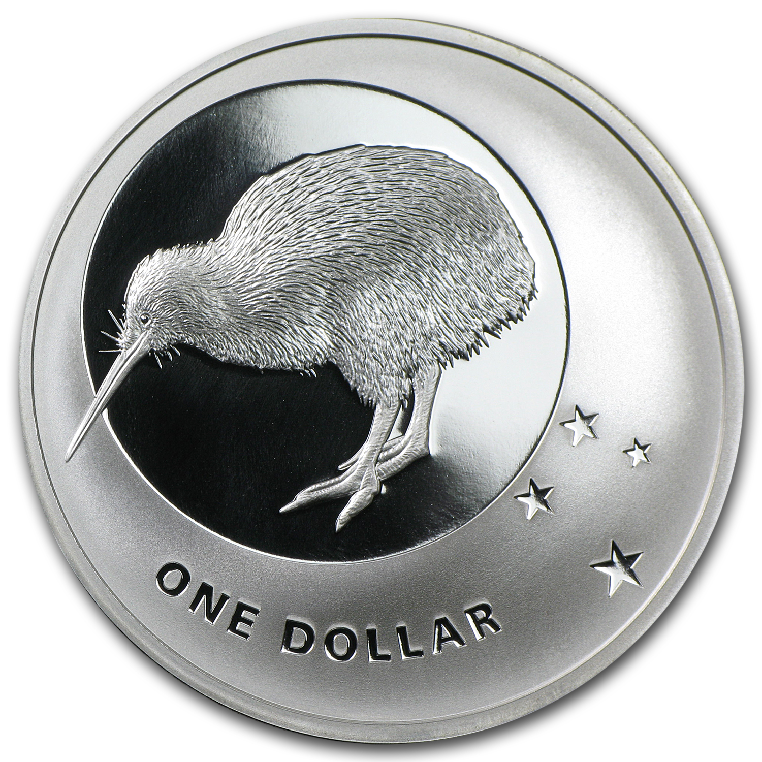 2010 New Zealand Icons $1 Kiwi & Southern Cross Silver Proof Coin
