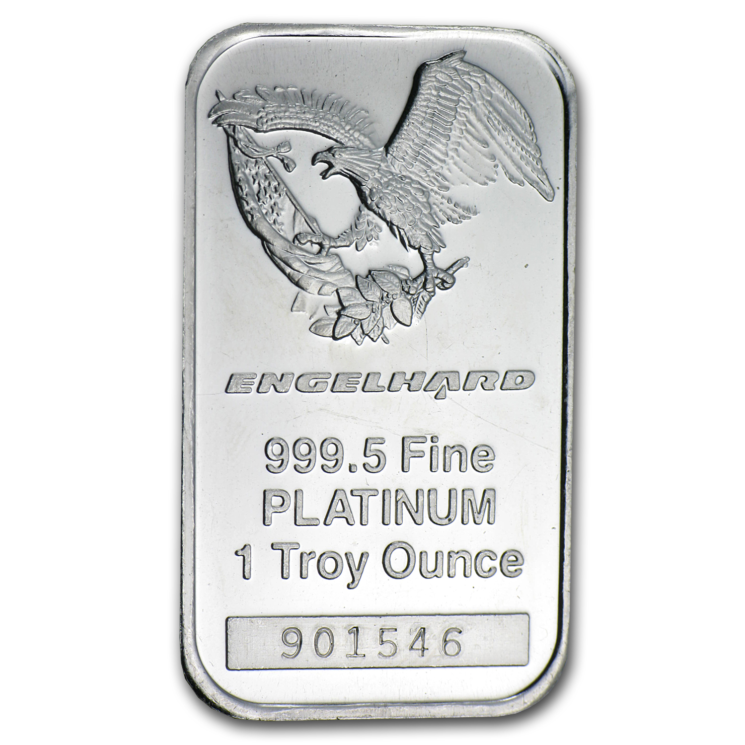 1 oz Engelhard Platinum Bar .9995 Fine ('Eagle' logo, No Assay)