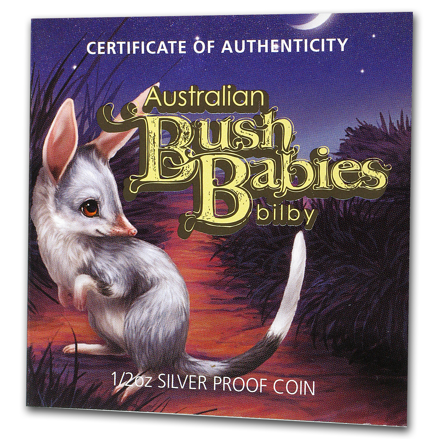 2011 Australia 1/2 oz Silver Bush Babies Bilby Proof