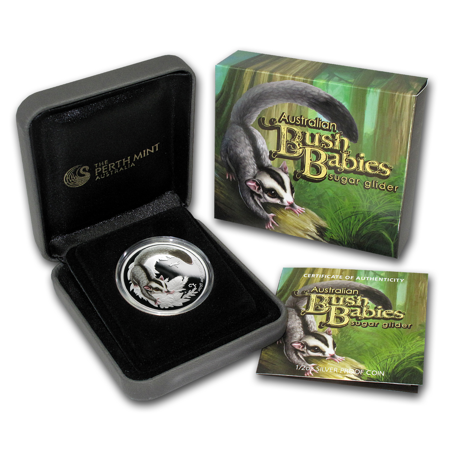 2010 1/2 oz Proof Silver Australian Bush Babies Sugar Glider