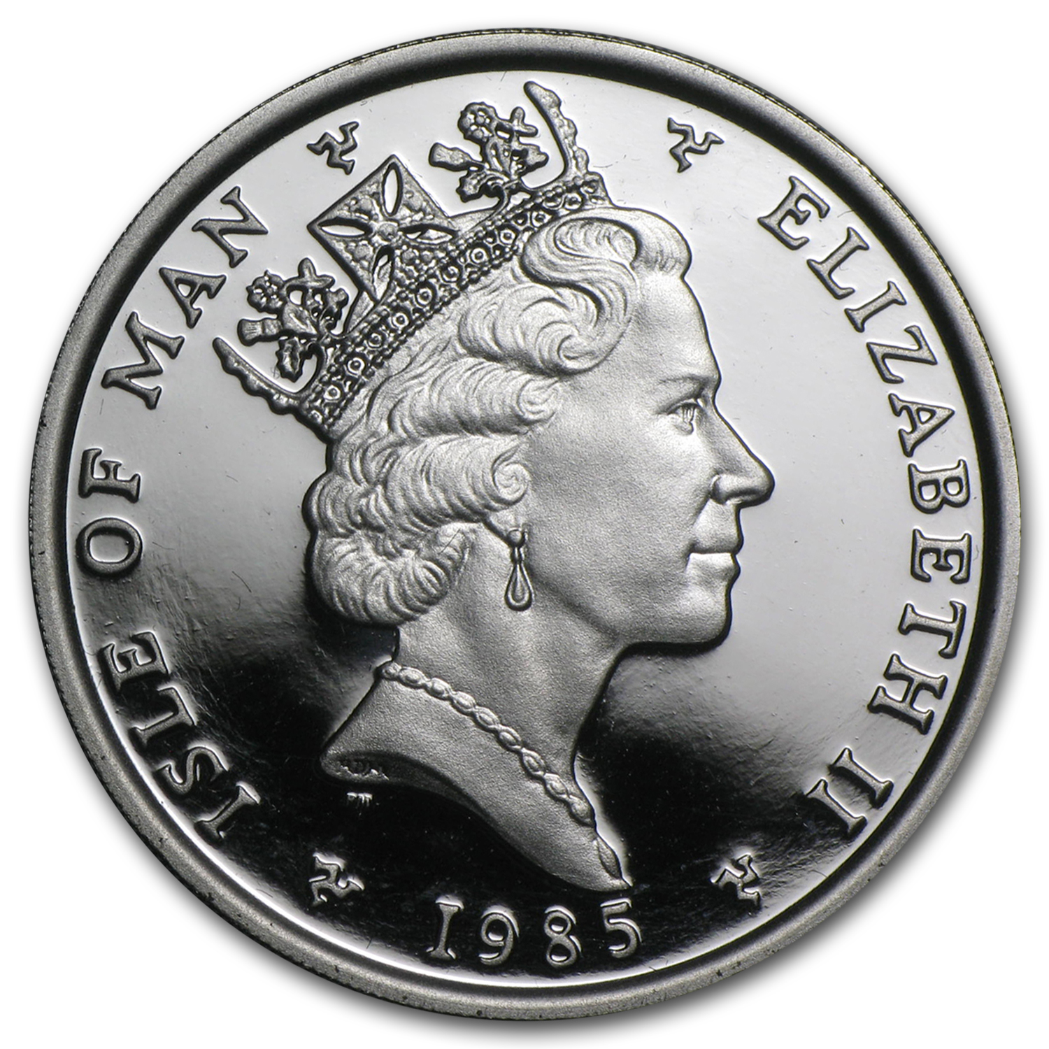 1985 1 oz Isle of Man Platinum Noble BU