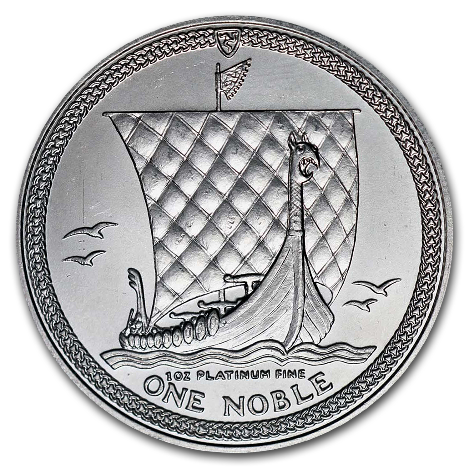 1987 1 oz Isle of Man Platinum Noble BU