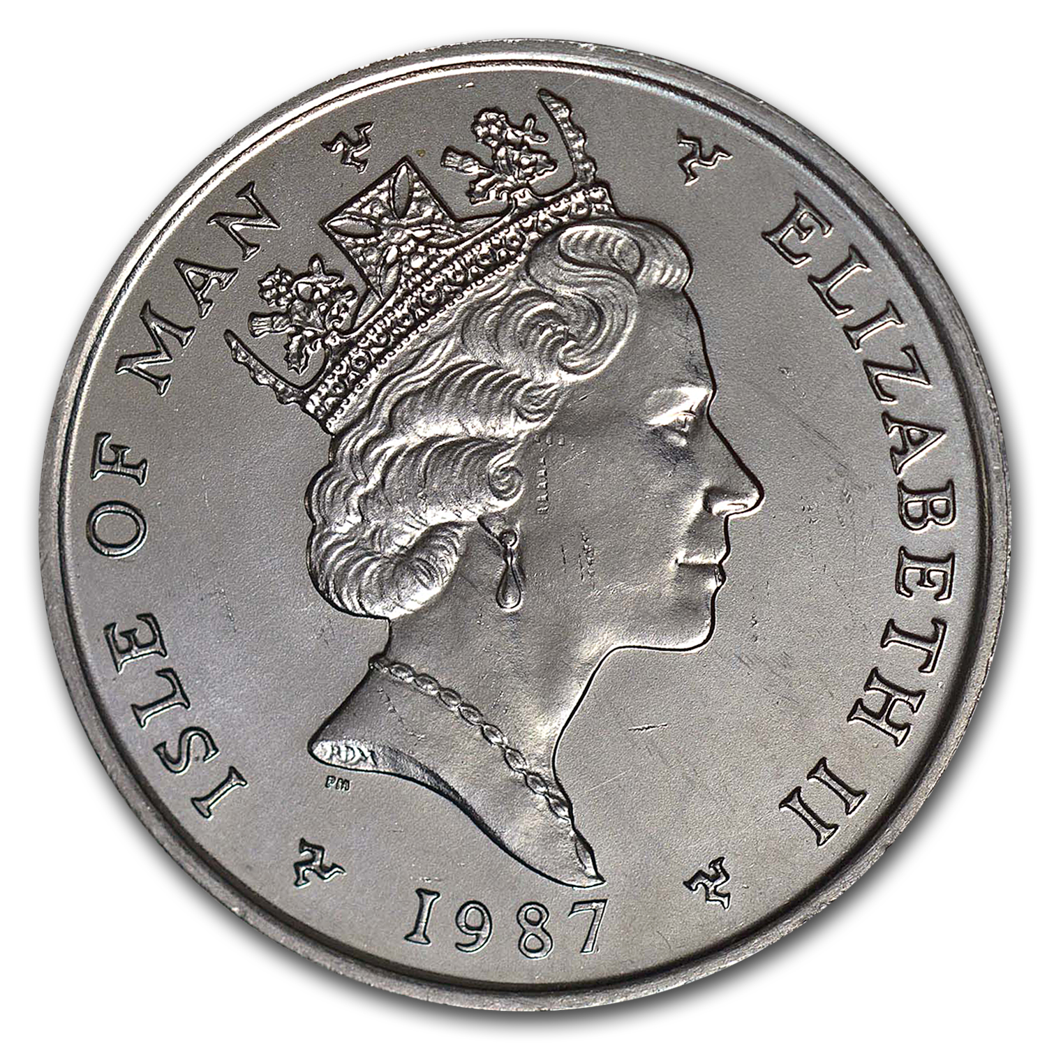 1987 Isle of Man 1 oz Platinum Noble BU