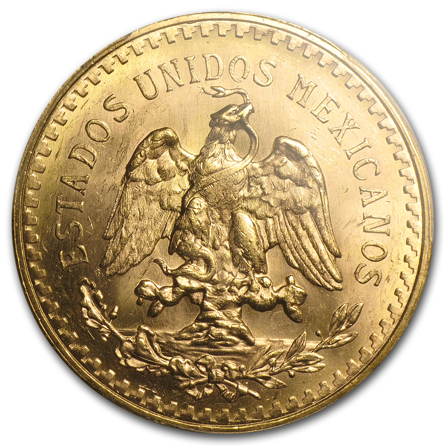 1945 Mexico 50 Pesos Gold MS-64 PCGS