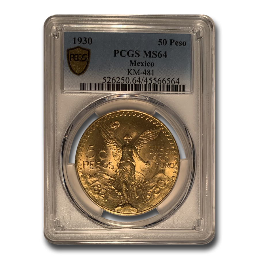 1930 Mexico Gold 50 Pesos MS-64 PCGS