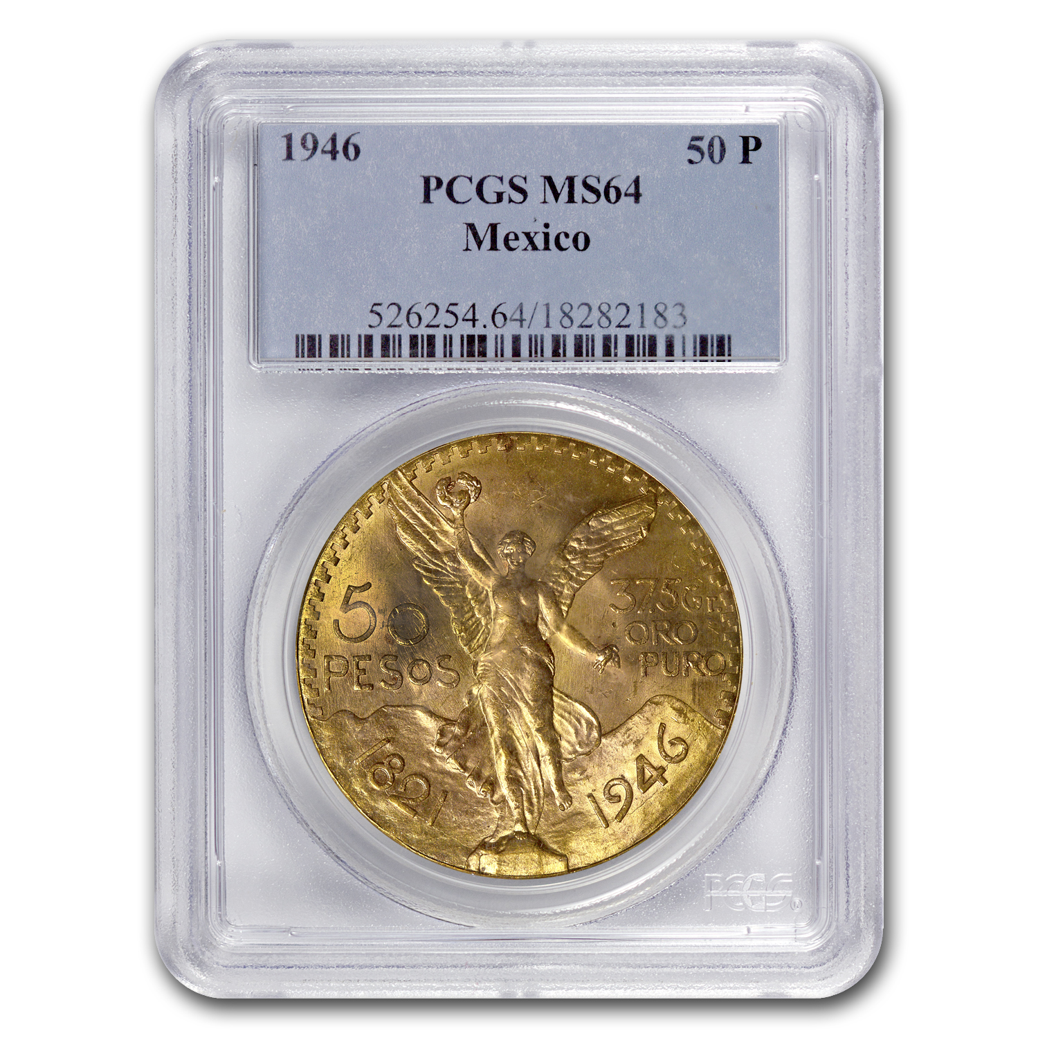1946 Mexico 50 Pesos Gold MS-64 PCGS