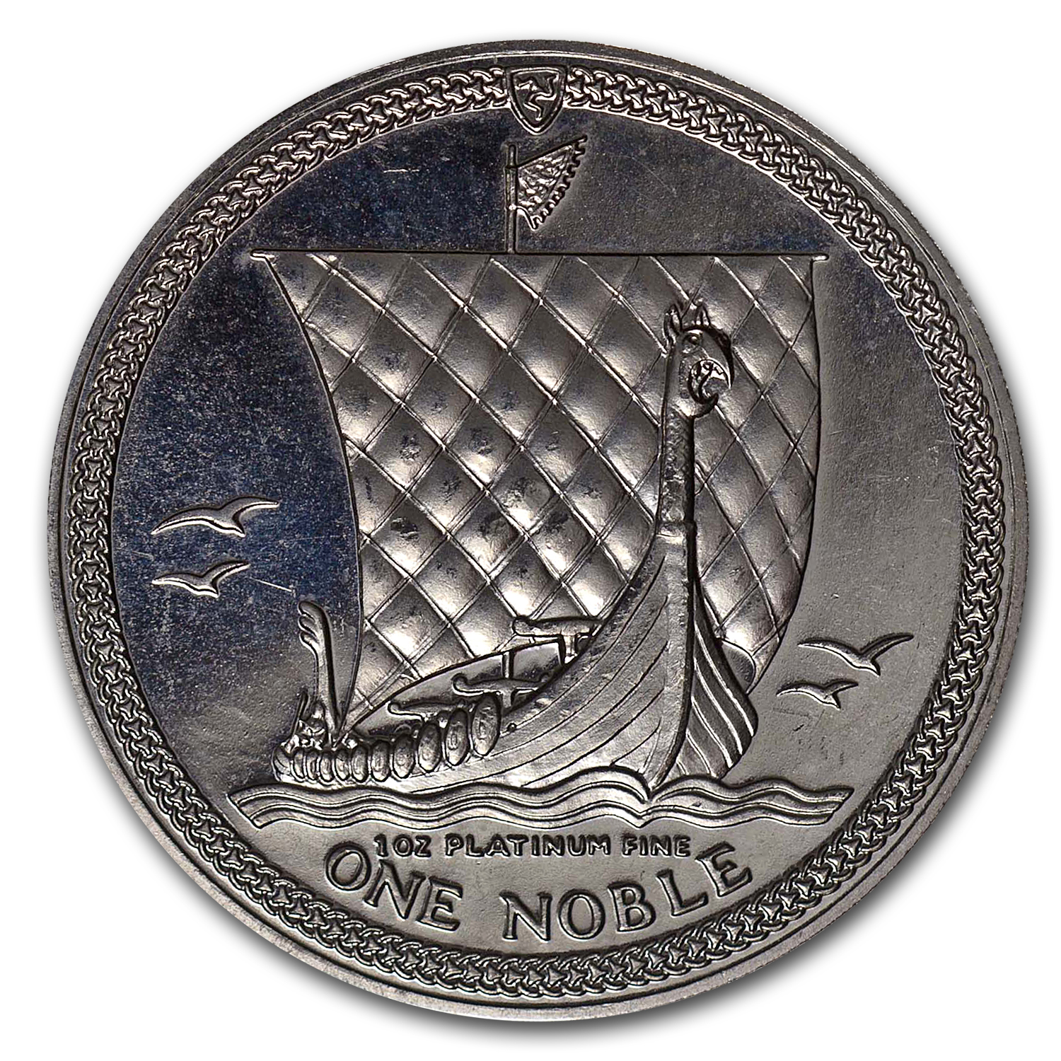 Isle of Man 1 oz Platinum Noble (Abrasions)