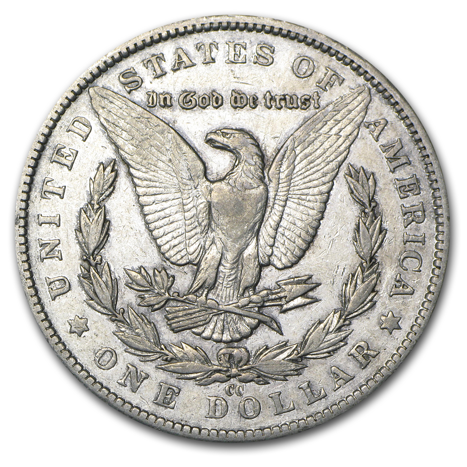1892-CC Morgan Dollar - Almost Uncirculated