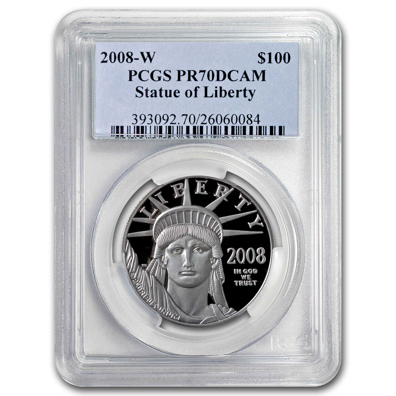 2008-W 1 oz Proof Platinum American Eagle PR-70 PCGS Registry Set