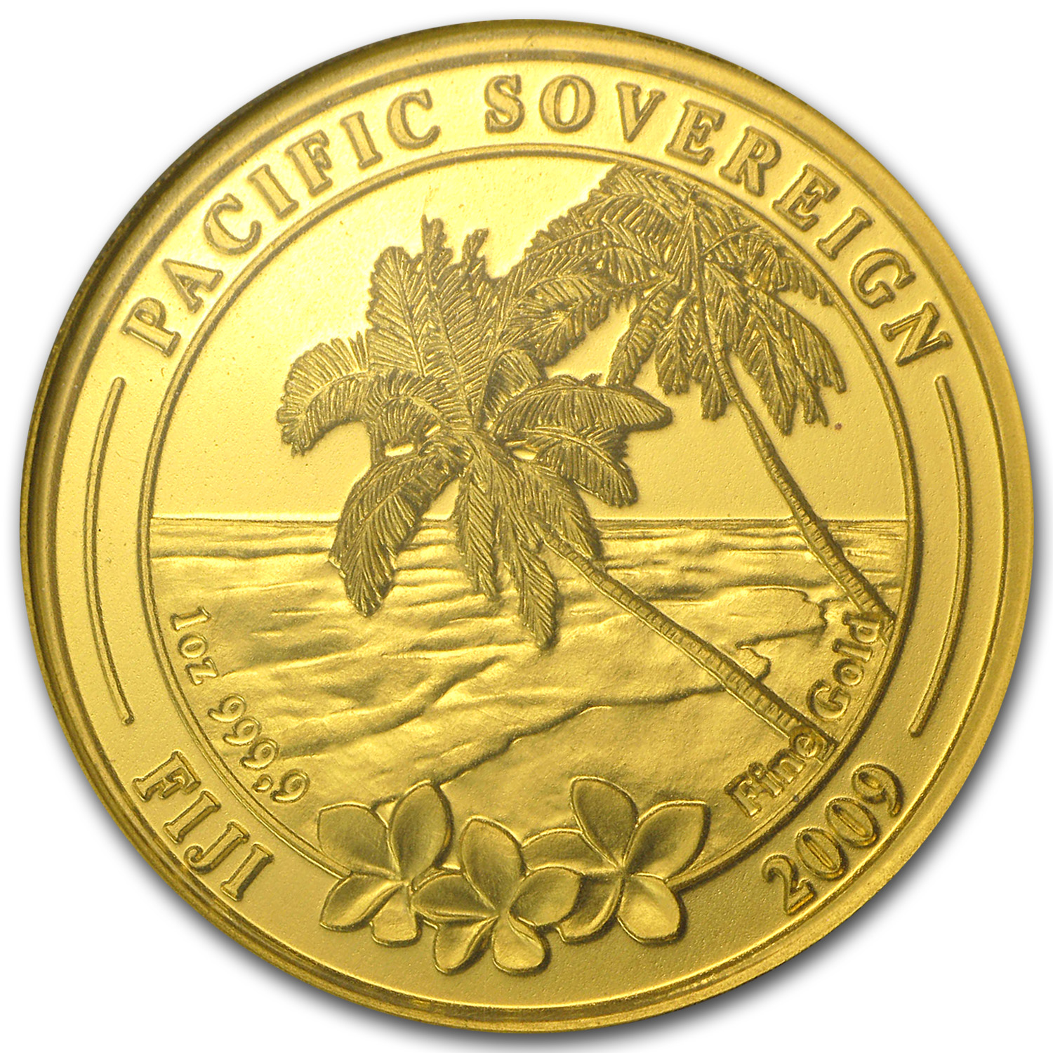 2009 1 oz Gold Fiji $100 Pacific Sovereign .9999 (In Assay Card)
