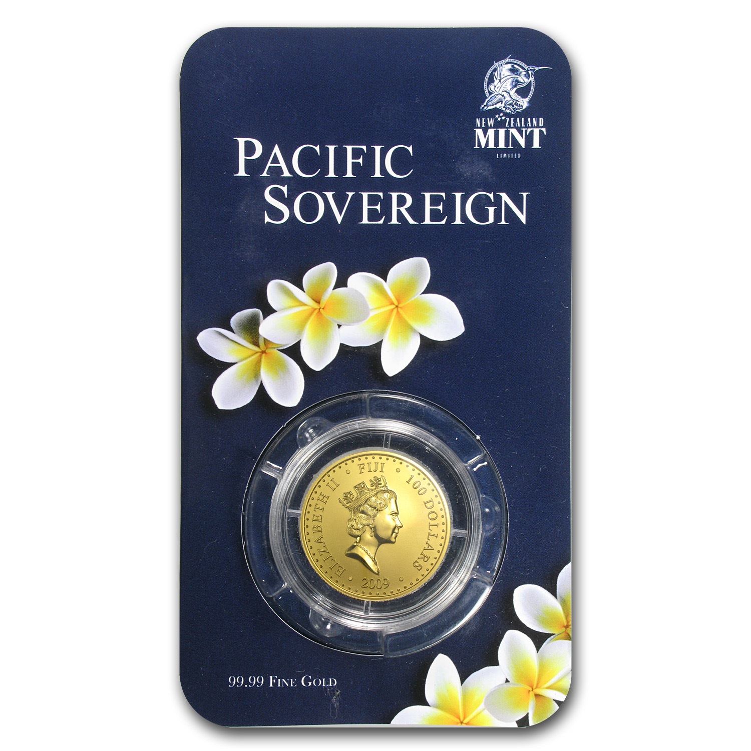 2009 Fiji 1 oz Gold $100 Pacific Sovereign BU (In Assay Card)
