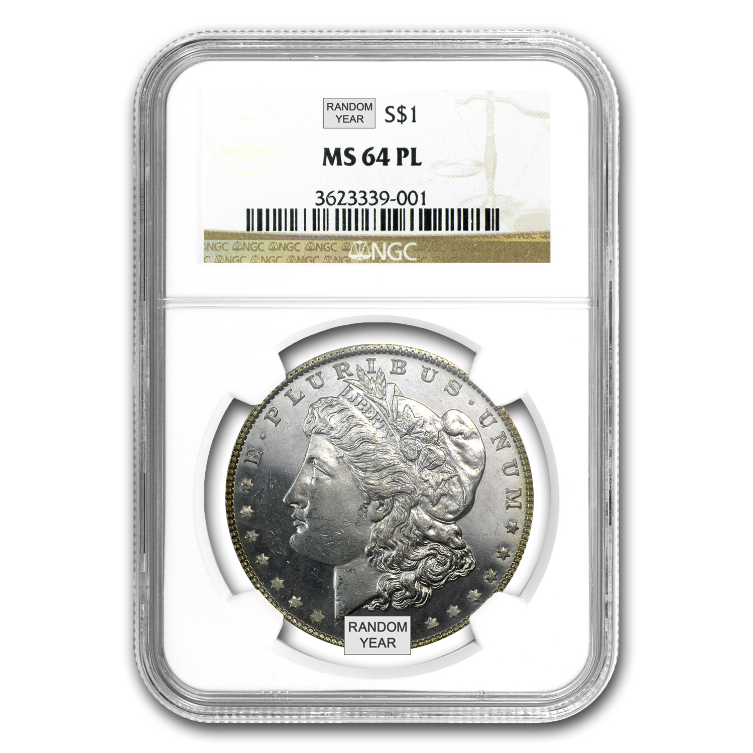 1878-1904 Morgan Dollars - MS-64 NGC (Proof Like)