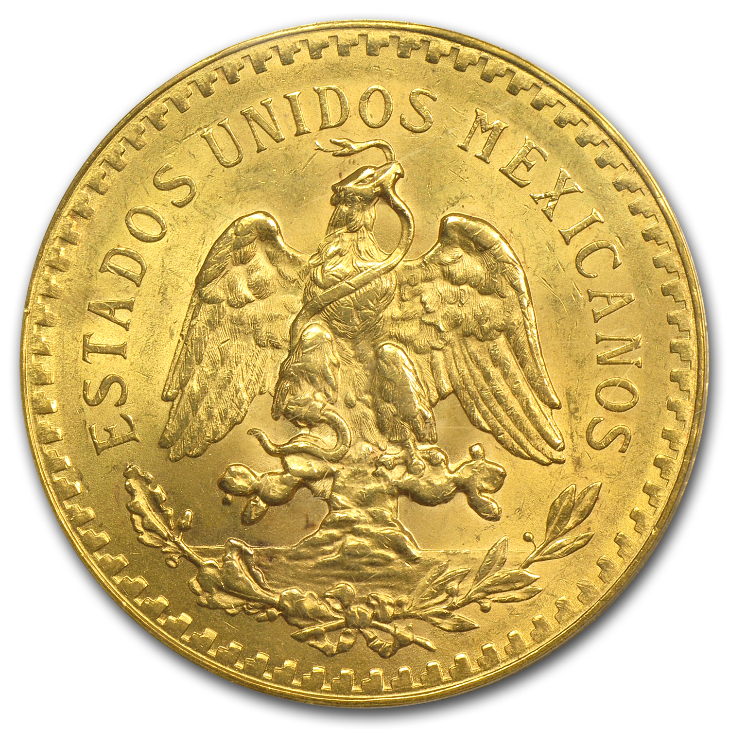 1923 Mexico Gold 50 Pesos MS-63 PCGS (Secure Plus)