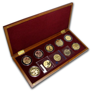 2012 1 oz 10-Coin (Around the World Gold Bullion Set)