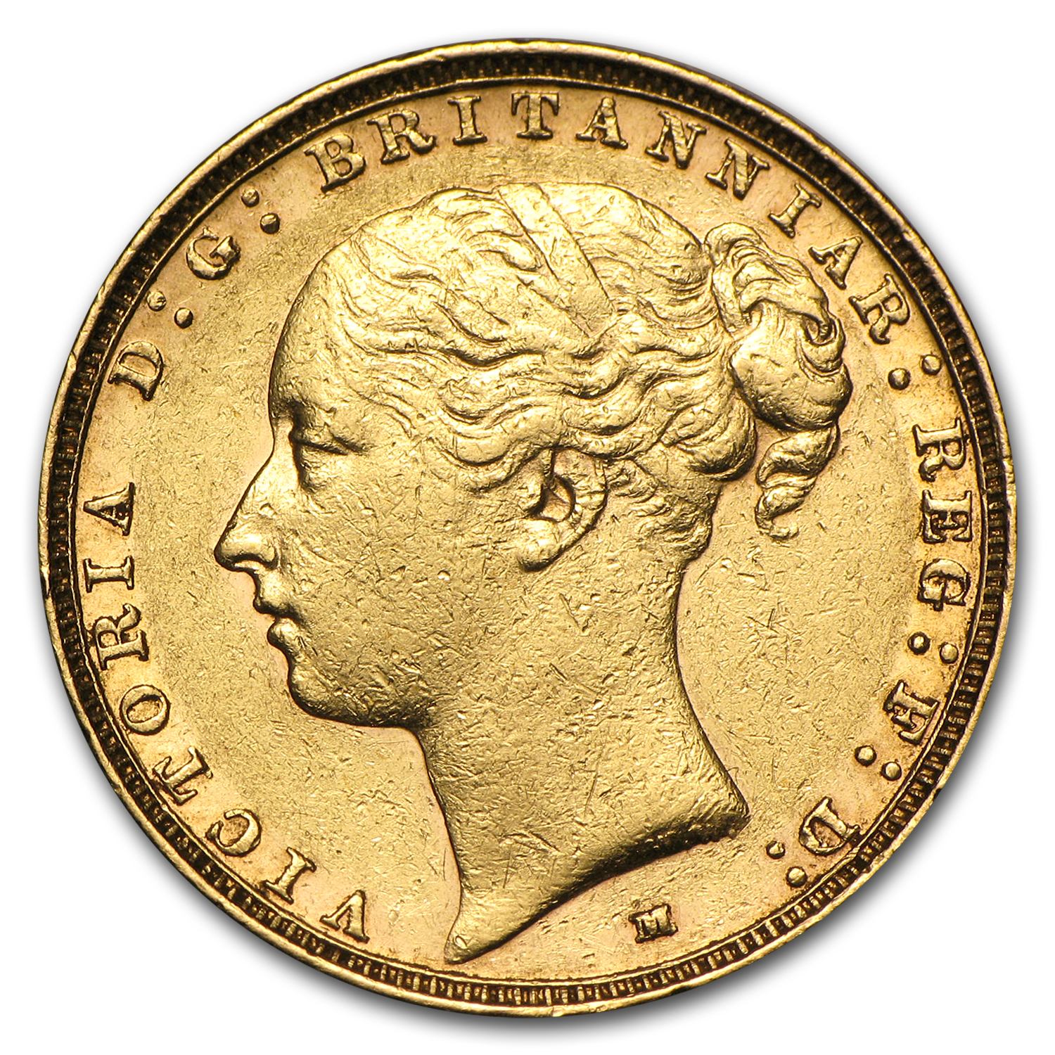 1886-M Australia Gold Sovereign Victoria EF