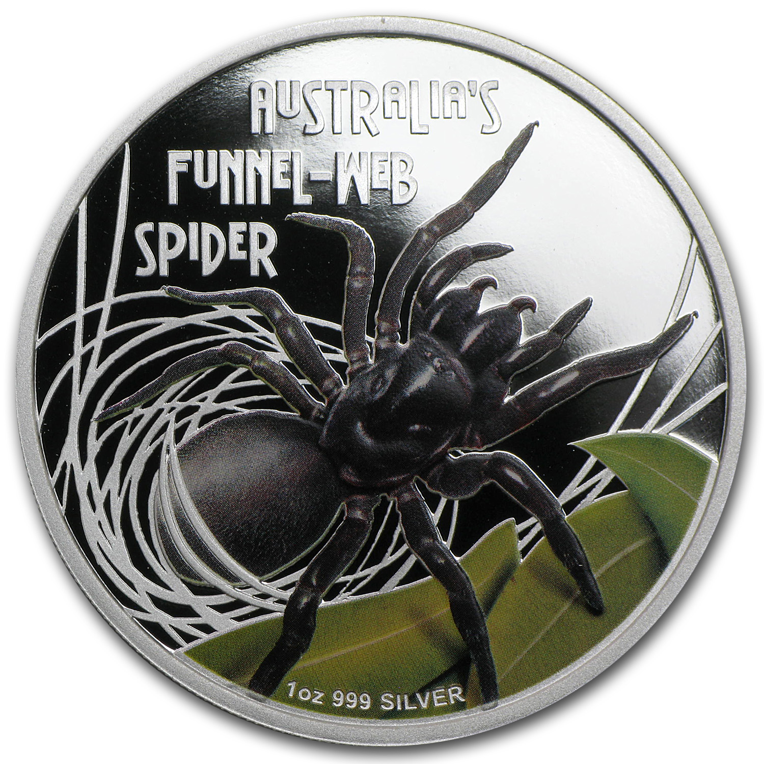 2012 Tuvalu 1 oz Silver Funnel Web Spider Proof