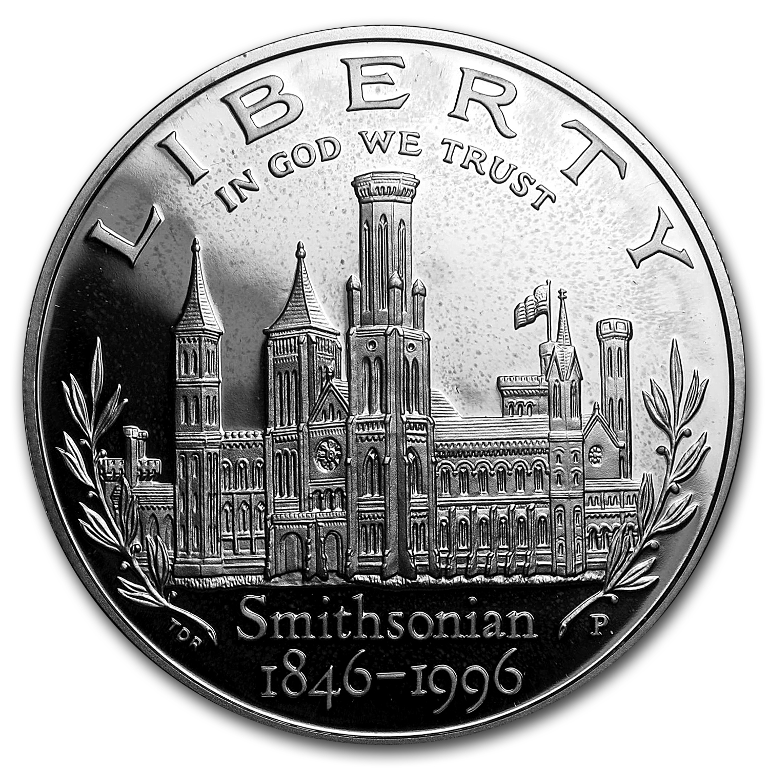 1996-P Smithsonian $1 Silver Commem Proof (w/Box & COA)