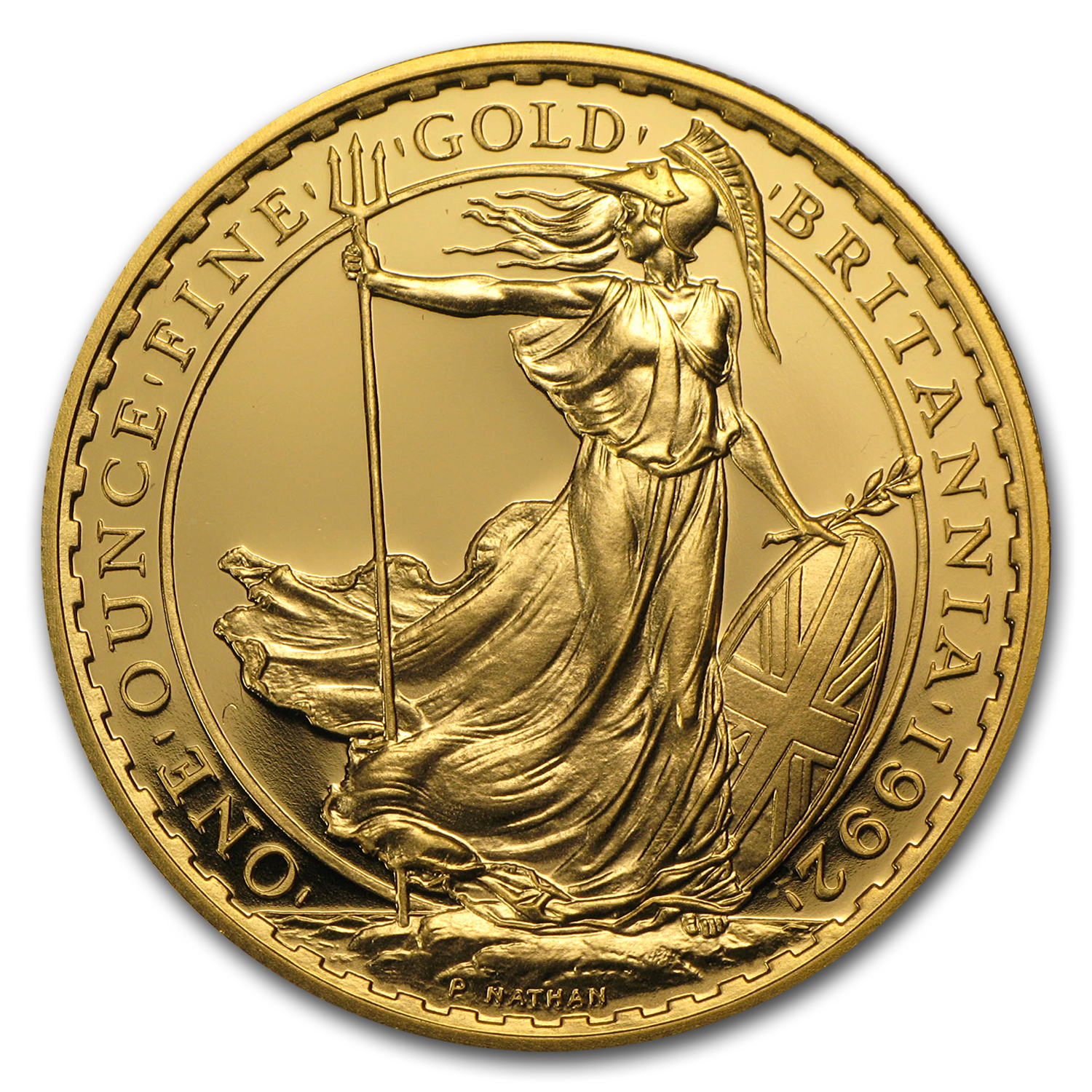 1992 1 oz Proof Gold Britannia