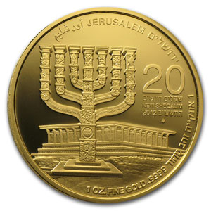 2010-2012 Israel 3-Coin 1 oz Gold Jerusalem of Gold Set
