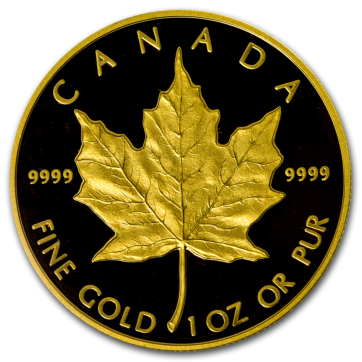 1989 1 oz Proof Gold Canadian Maple Leaf PCGS PR-69