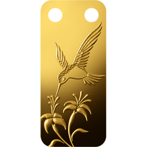 1/5 oz Gold Pendants - Pamp Suisse Ingot (Hummingbird, Proof)
