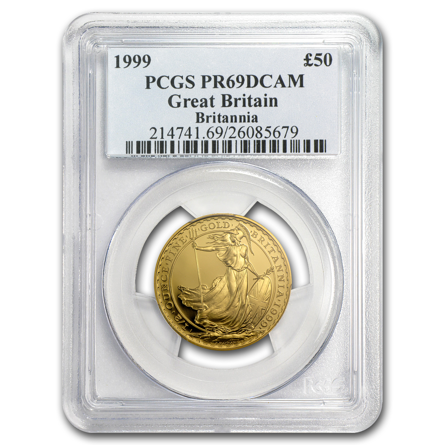 1999 1/2 oz Proof Gold Britannia PR-69 DCAM PCGS
